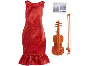 Barbie obleceni pro panenku povolani houslistka