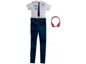 Barbie obleceni pro panenku povolani pilotka