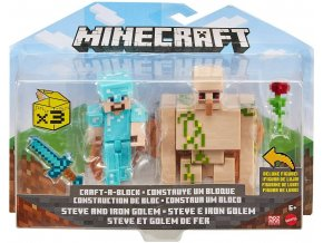 Minecraft figurka Steve a Iron Golem 1