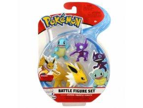 Pokemon Set bojovych figurek Jolteon Squirtle Sableye
