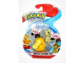 Pokemon Set bojovych figurek Psyduck Mimikyu Stufful