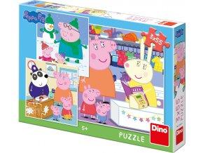 Puzzle 3x55 dílků Peppa pig: Veselé odpoledne