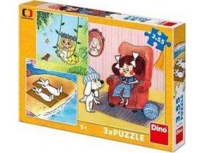 Puzzle 3x55 dílků Moje pohádky