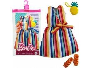 Barbie oblečení pro panenku pruhované šaty