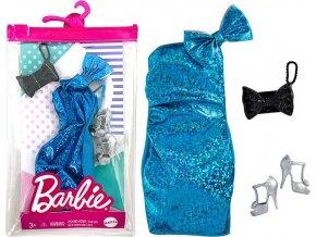 Barbie oblečení pro panenku modré večerní šaty
