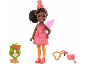 Barbie Chelsea v kostýmu plameňák