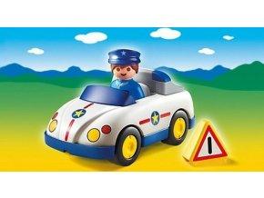PLAYMOBIL 6797 Policejní auto (1.2.3)