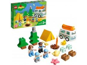 LEGO® DUPLO® Town 10946 Dobrodružství vrodinném karavanu