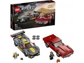 LEGO® Speed Champions 76903 Chevrolet Corvette C8.R a 1968 Chevrolet Corvette