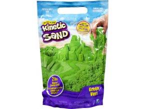 Kinetic sand zelený balení barevného písku 0,9kg