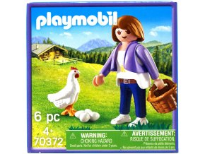 PLAYMOBIL 70372 farmarka a slepicka 1