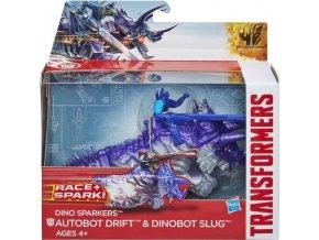 Hasbro Transformers 4 construct Bots Transformer se zvířetem Autobot Drift + Dinobot Slug