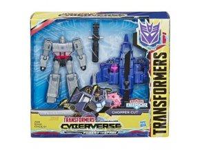Tranformers Cyberverse Spark Armor figurka Megatron Chopper Cut 1