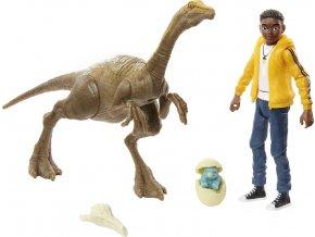 jursky svet kridovy kemp clovek a dinosaurus Darius a Gallimimus 1