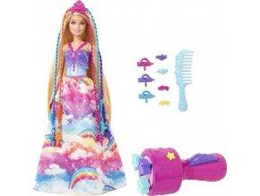 Barbie Princezna s barevnými vlasy
