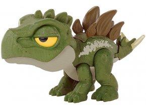 Jurský svět Snap Squad Stegosaurus s pohyblivou čelistí