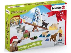 Schleich 98271 Adventní kalendář Domácí zvířata 2021