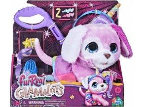 FurReal Friends GLAMALOTS Růžový pejsek