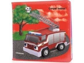 CANPOL BABIES Měkká knížka pískací – dopravní prostředky