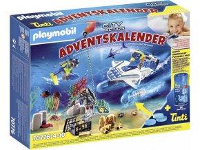 PLAYMOBIL 70776 Adventní kalendář Zábava ve vodě - Nasazení policejních potápěčů