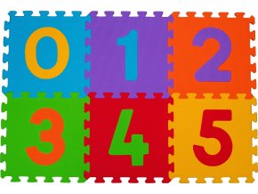 Puzzle pěnové číslice 6ks, 6m+