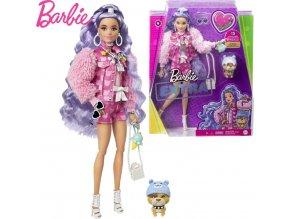 Barbie Extra Stylová dlouhovláska s buldočkem