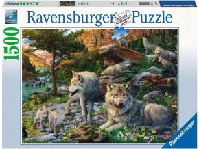 Puzzle Jarní vlci 1500 dílků