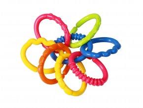 Kousátko barevné kroužky 3m+