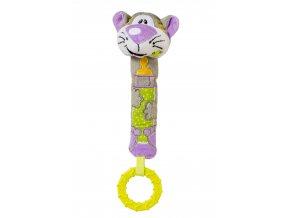 Hračka cri-cri s kousátkem kočka 6m+