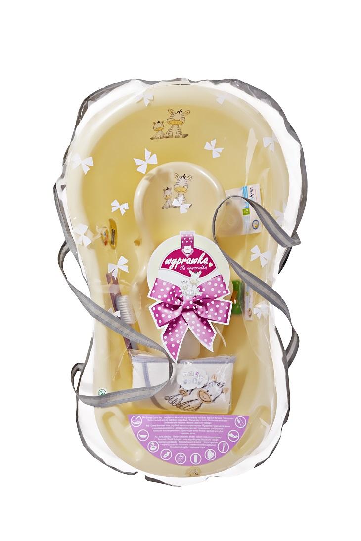 Maltex Sada dárková pro novorozence ZEBRA béžova