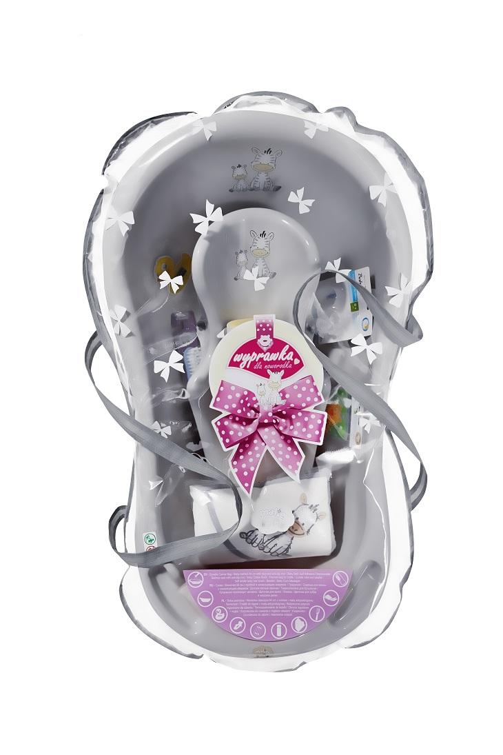 Maltex Sada dárková pro novorozence ZEBRA šedá