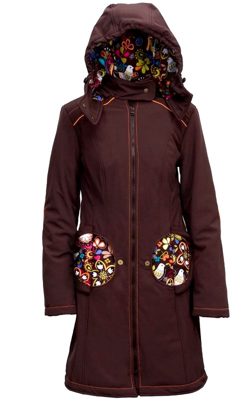 Liliputi kabát na nošení dětí Bajka hnědý Velikost: 44