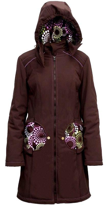 Liliputi kabát na nošení dětí Levandule hnědý Velikost: 44