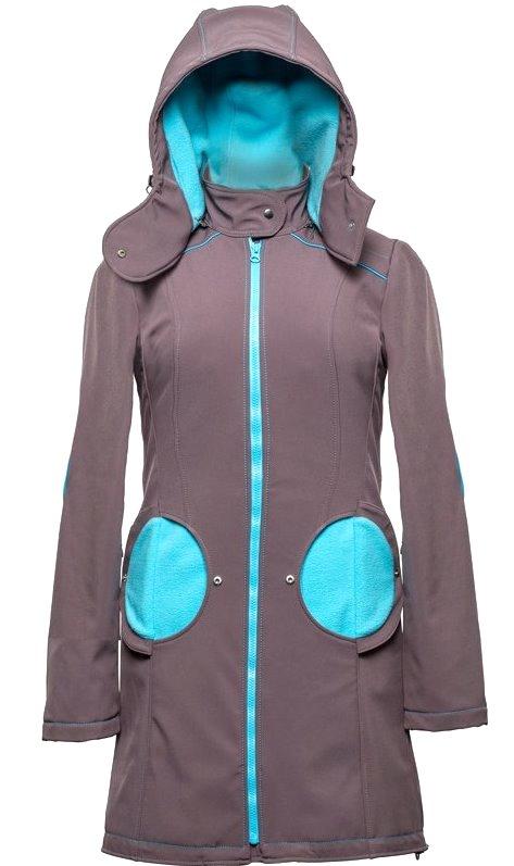 Liliputi kabát na nošení dětí šedý Velikost: 44