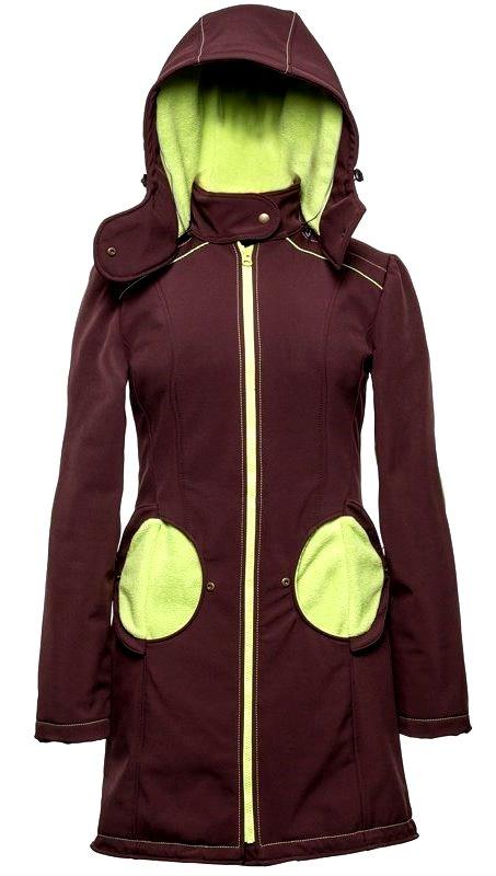 Liliputi kabát na nošení dětí hnědý Velikost: 44