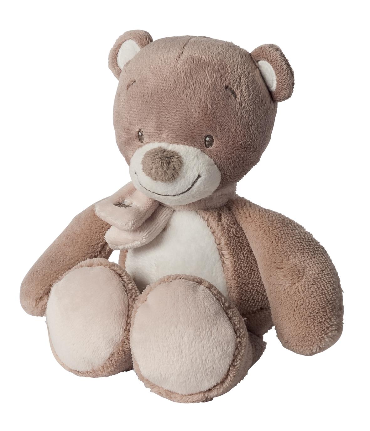 Nattou Hračka plyšová hrkací medvídek Tom 18 cm