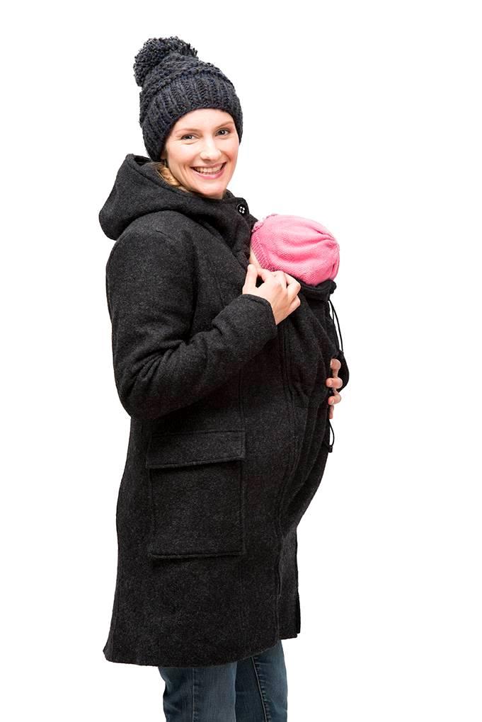 Mamalila zimní vlněný kabát černý Velikost: 44