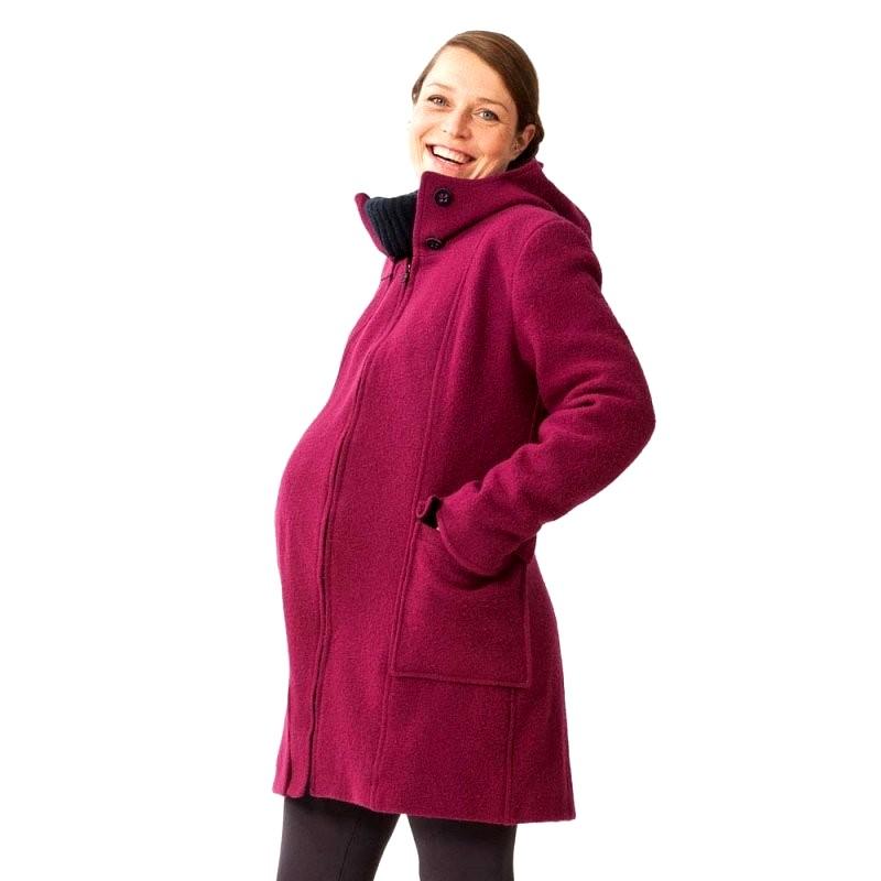 Mamalila zimní vlněný kabát růžový Velikost: 44