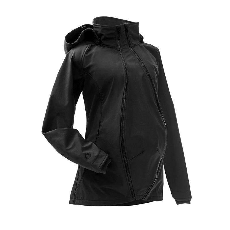 Mamalila softshell těhotenská a nosící bunda pro dva do každého počasí černá Velikost: EUR 36
