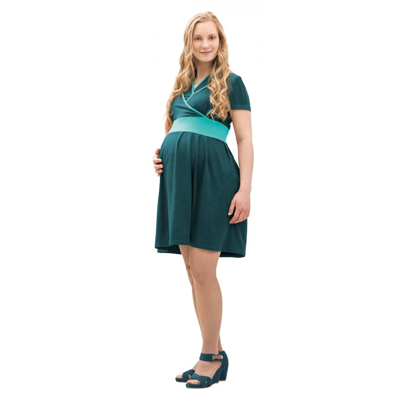 Mamalila těhotenské a kojící šaty Ennie zelené Velikost: 36