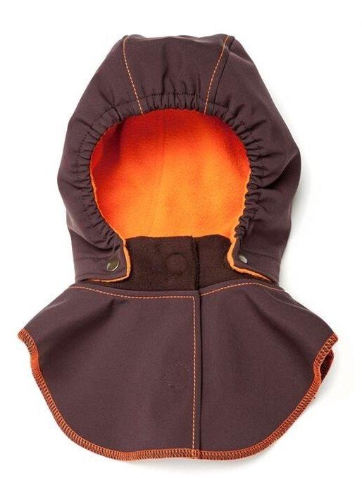 Liliputi dětská kapuce ke kabátu Bajka hnědá