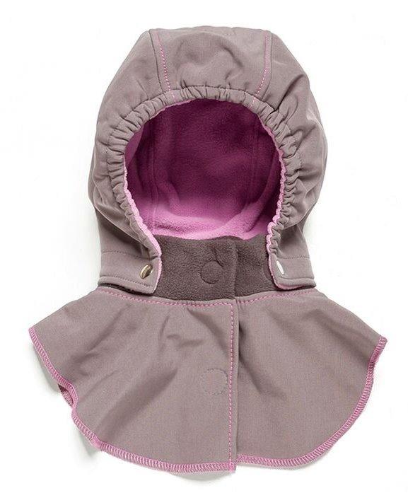 Liliputi dětská kapuce ke kabátu Pivoňka šedá