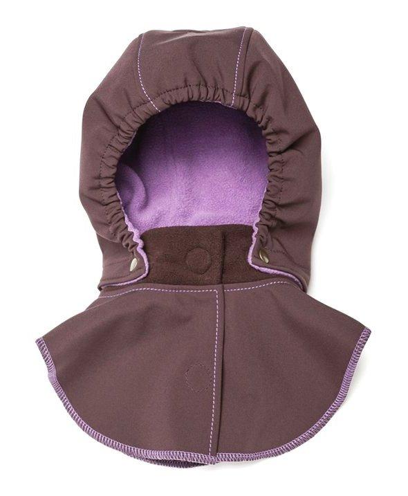 Liliputi dětská kapuce ke kabátu Levandule hnědá