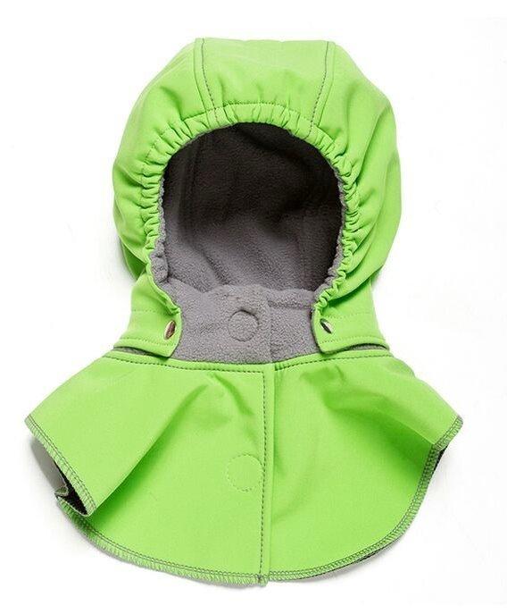 Liliputi dětská kapuce ke kabátu zelená