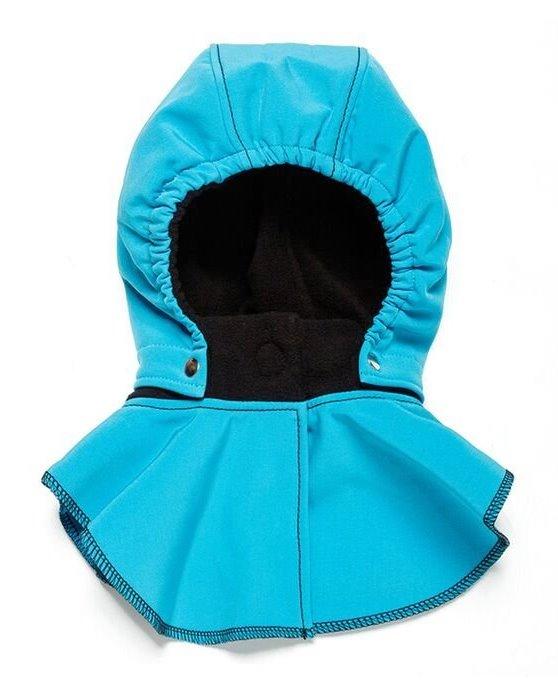 Liliputi dětská kapuce ke kabátu modrá