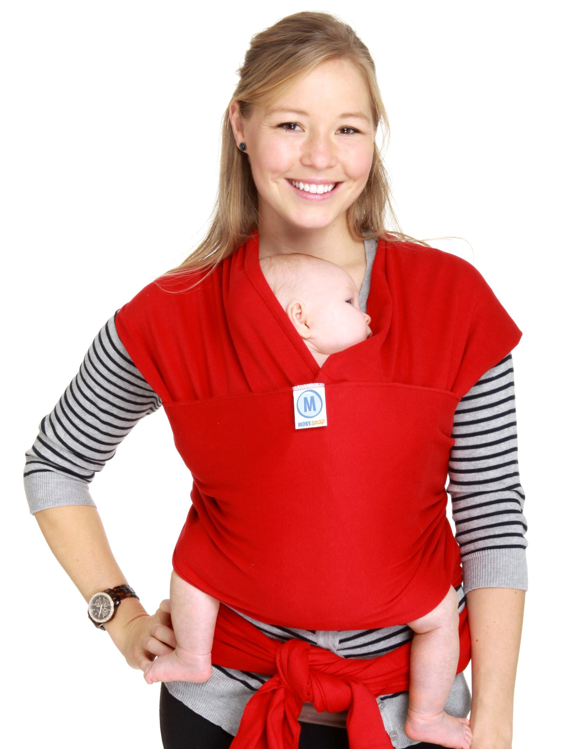 Moby Wrap elastický šátek original červený