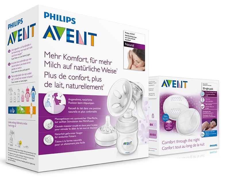 Philips AVENT Odsávačka mateř.ml. Natural se zásobníkem 125ml+noční vložky 20ks