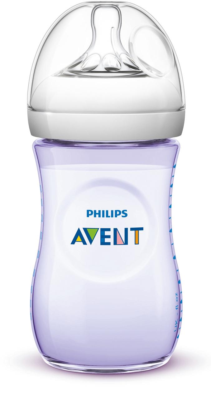 Philips AVENT Láhev Natural 260 ml fialová, 1 ks