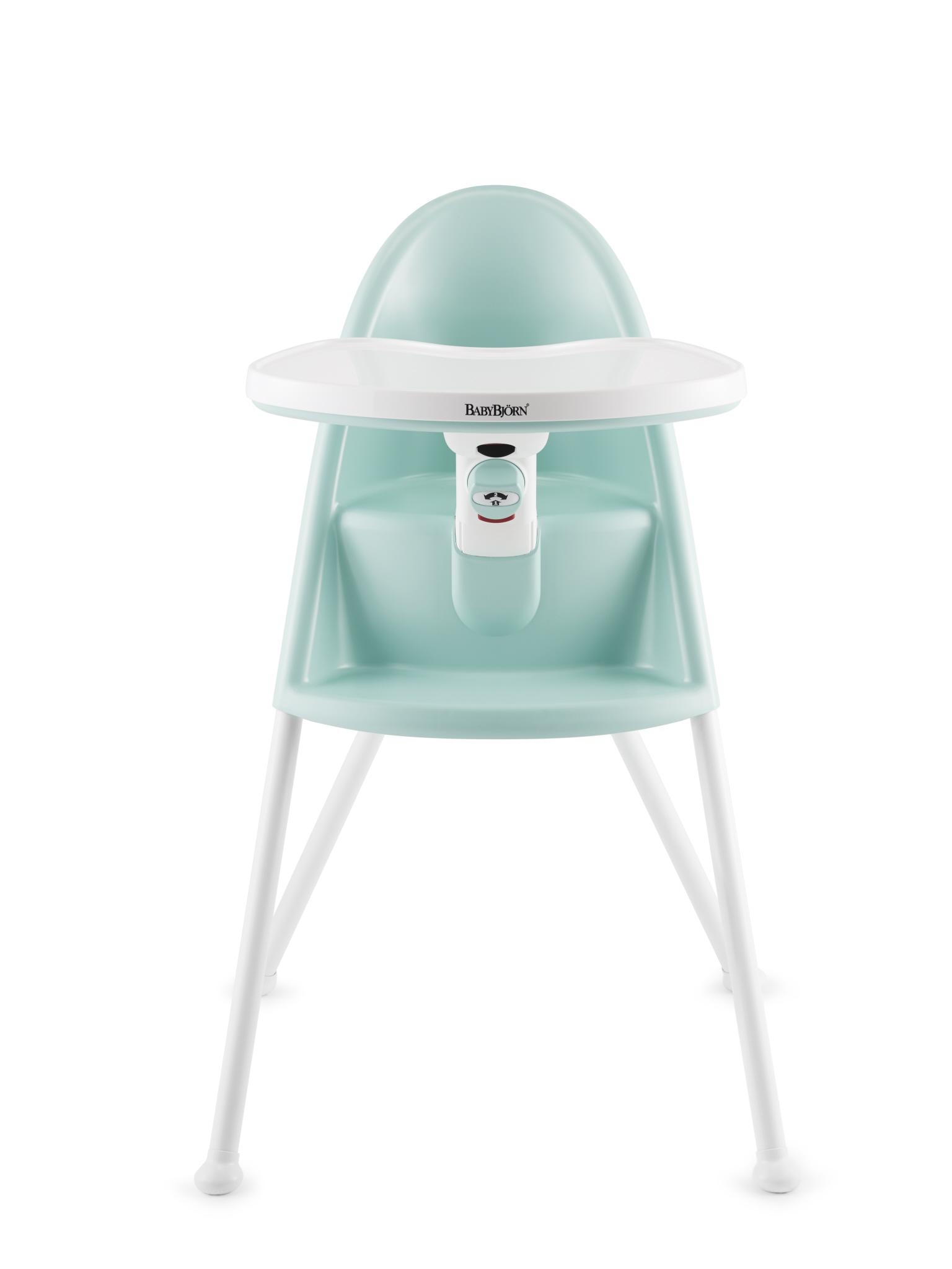 Židle vysoká BabyBjörn s pultíkem Light Green Doprava zdarma