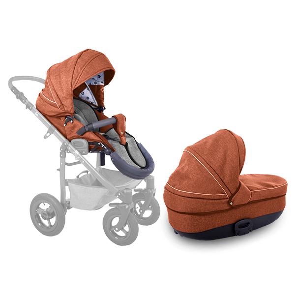 Set korba + sedačka ke kočárku Go/Terrain Terracotta Petite&Mars